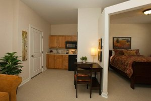 Deer trail assisted living for Living in a model apartment